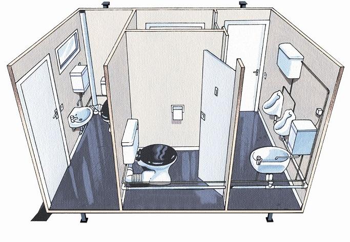 Qik Group portable toilets for site usage